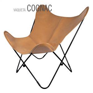 Vlinderstoel leer Vaqueta