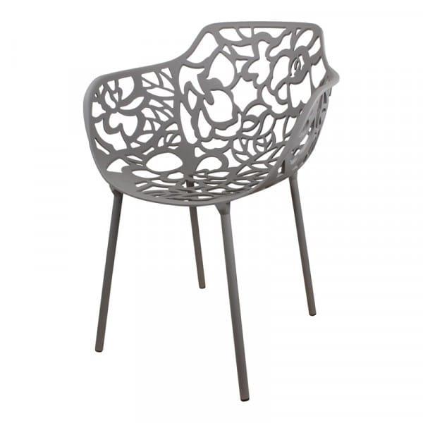 Cast magnolia stoel donkergrijs