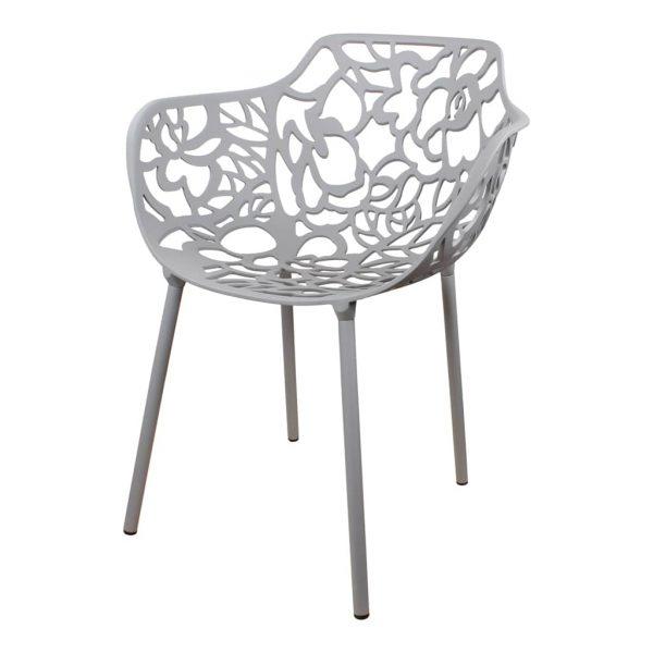 Cast magnolia stoel lichtgrijs