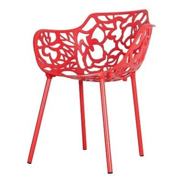 Cast magnolia stoel rood