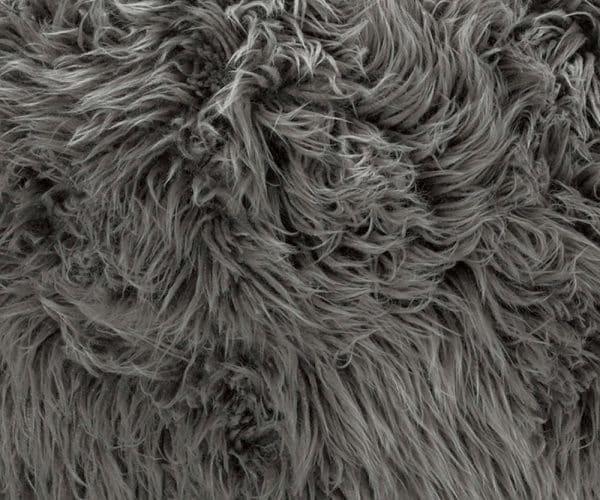 Detail flokati grijs