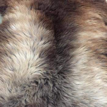 Schapenvacht bont bruin-wit