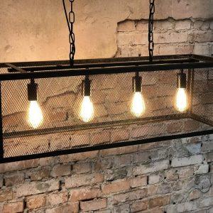 Zwart metalen hanglamp Scranton 4L